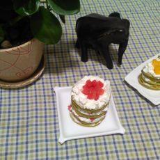 水果抹茶蛋糕