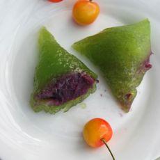 水晶西米紫薯粽