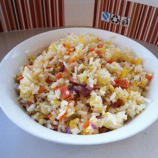 四丁炒二米饭的做法
