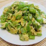 四季豆炒蛋的做法