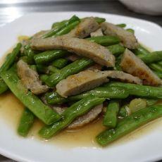 四季豆炒鱼滑