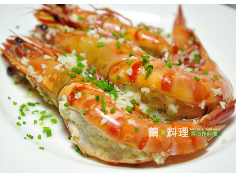 蒜泥蒸大虾