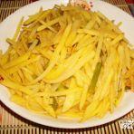 蒜苔炒土豆丝的做法