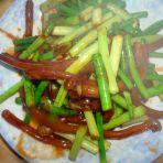 蒜苔炒羊鞭的做法