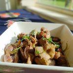 蒜头豆豉焖鸡珍