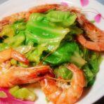 蒜香大虾包菜