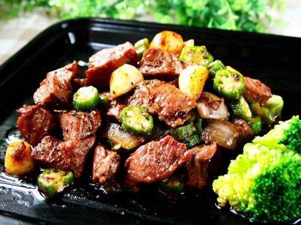 蒜香秋葵牛肉粒