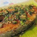 蒜香三文鱼