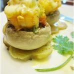 蒜香芝士烤鲜虾蘑菇的做法
