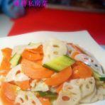 素炒莲藕胡萝卜片