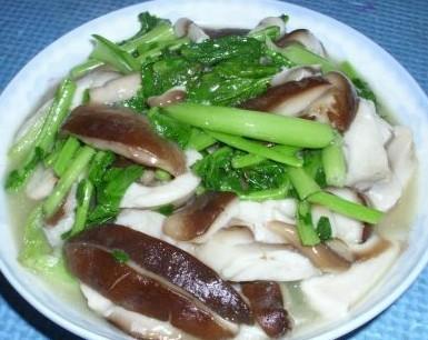 苔菜炒香菇