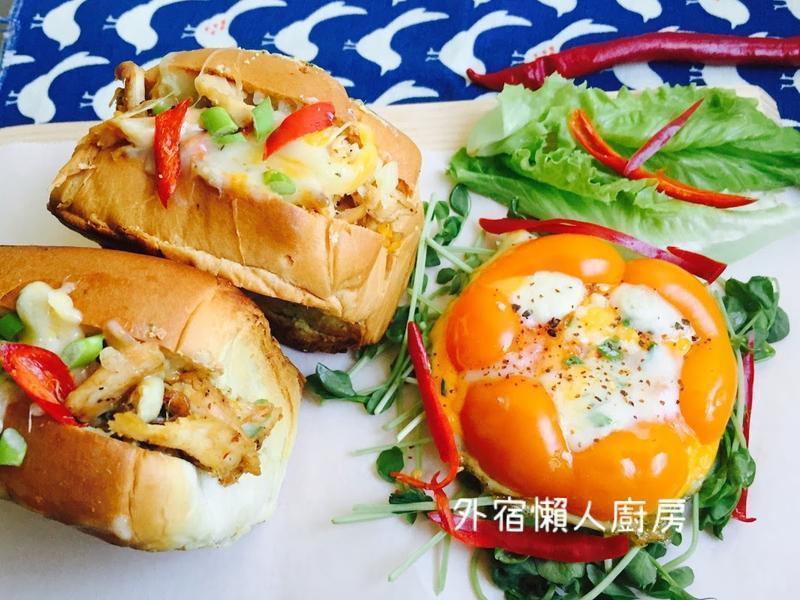 泰式烤鸡爆浆起司三明治