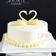 天鹅玫瑰奶油蛋糕的做法