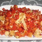 甜椒炒蛋的做法