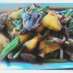 甜酸菠萝猪颈肉的做法