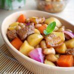 土豆花生烧肉