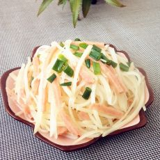 土豆丝拌火腿