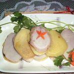 土豆芋头腊肉夹