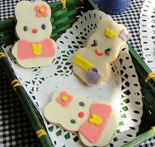兔子翻糖饼干的做法