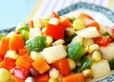 五彩杂蔬的做法