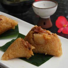 五香肉粽的做法