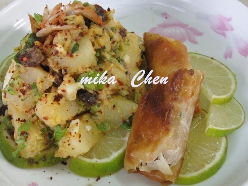 虾卷沙拉的做法
