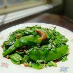 虾米炒荷豆