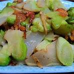 虾米炒芥菜头