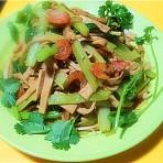 虾米炒双素