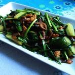 虾米黄瓜炒萝卜干