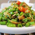 咸菜虾皮煸豇豆