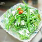 咸蛋白煮龙须菜的做法