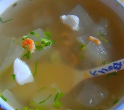 咸蛋开洋冬瓜汤的做法