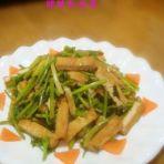 香菜炒豆腐的做法