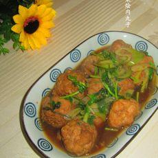 香菜烩肉丸子