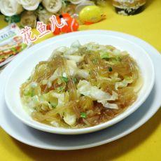 香葱圆白菜炒粉条的做法