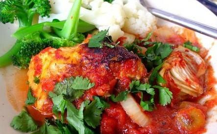 乡村番茄泥烤鸡