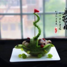 香瓜乌龟船水果盘