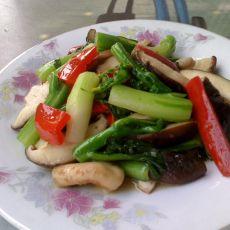 香菇炒油菜心