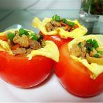 香菇鸡肉番茄盏