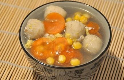 香菇鸡肉丸子汤