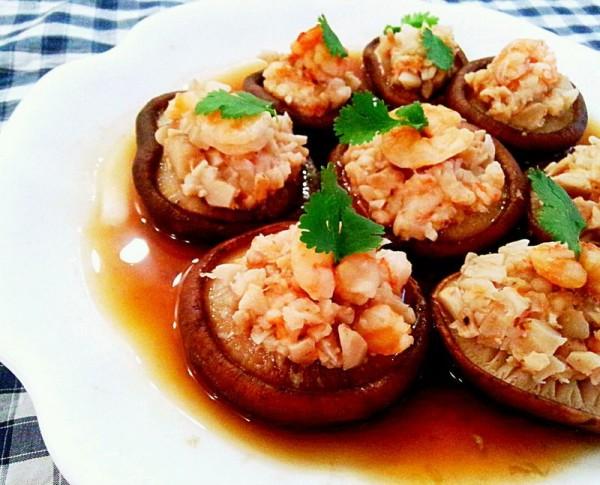 香菇酿虾盏
