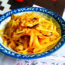 香菇肉末土豆丝