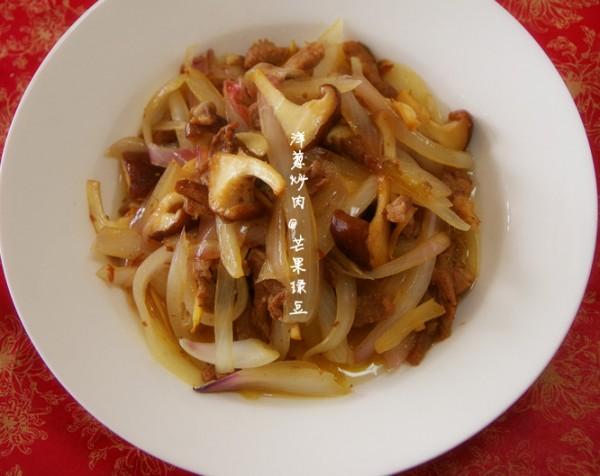 香菇洋葱炒肉