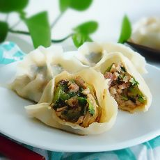 香菇油菜菜水饺