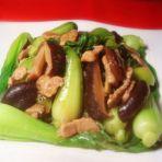 香菇油菜炒肉