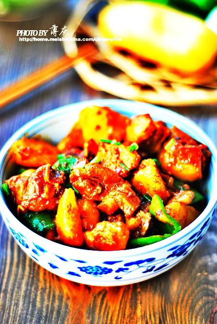 香辣土豆烧鸡块