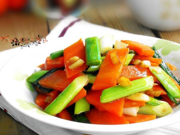 香蒜胡萝卜的做法