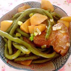 咸肉炖豆角土豆