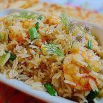 鲜虾姜葱炒饭